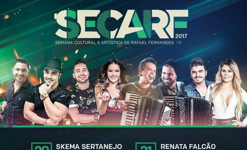 PREFEITURA DE RAFAEL FERNANDES DIVULGA ATRAÇÕES PARA A SECARF 2017
