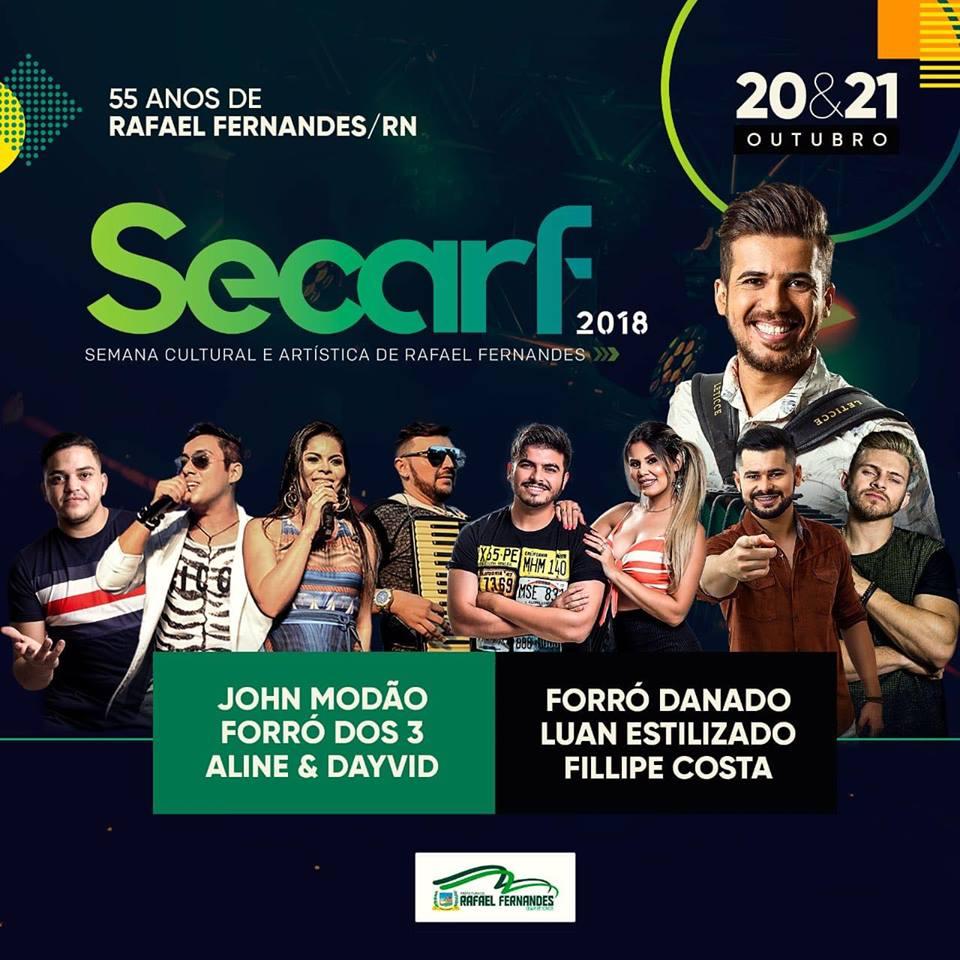 Prefeitura divulga Programação da SECARF 2018