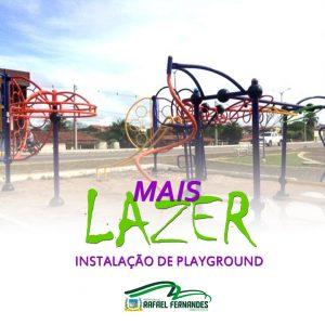 Prefeitura instala parquinho Playground Infantil em Praça da cidade