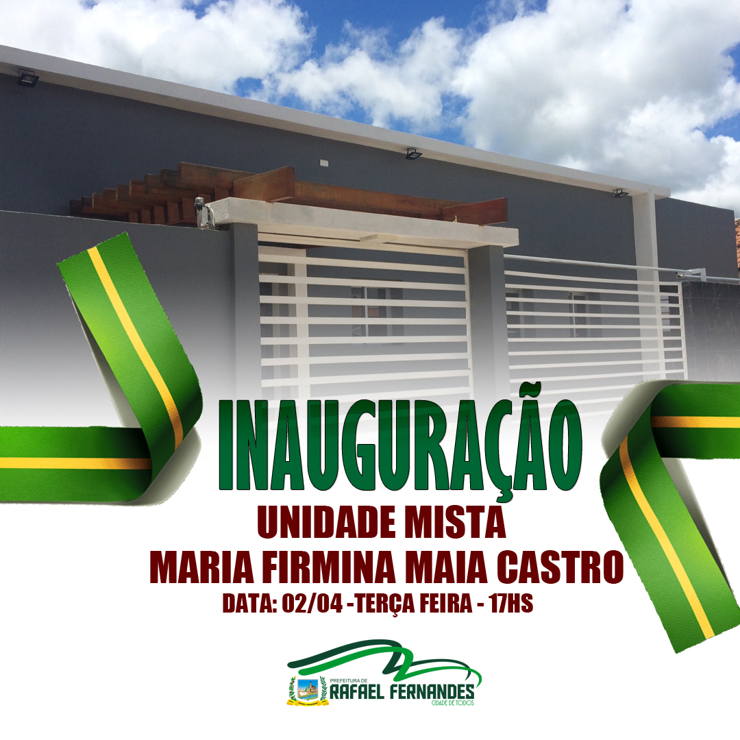 Prefeitura irá inaugurar Unidade de Saúde, nesta terça (02)