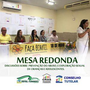 Secretaria Municipal de Assistência Social, realizou mesa redonda sobre o 18 de maio
