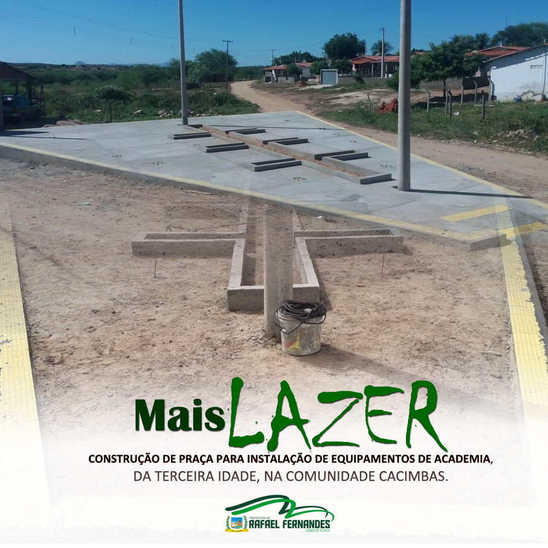 Prefeitura instala equipamentos de academia da terceira idade, na comunidade Cacimbas