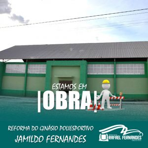 Prefeitura inicia reforma do Ginásio Poliesportivo Jamildo Fernandes