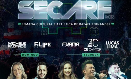 Prefeitura divulga atrações para a SECARF 2019