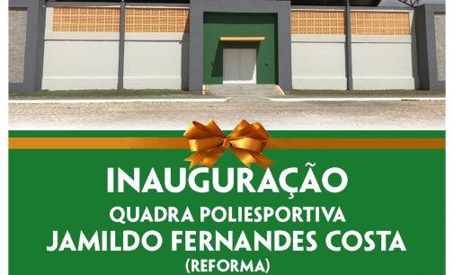 Prefeitura irá inaugurar Quadra Poliesportiva nesta quarta (12)