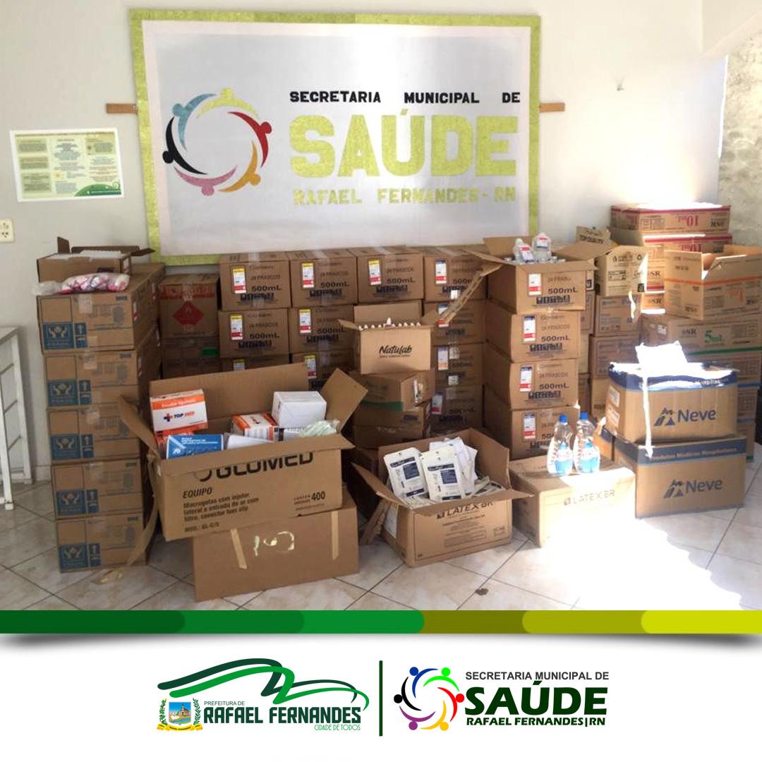 Prefeitura de Rafael Fernandes realiza compra no valor de R$ 50 mil, em insumos para saúde