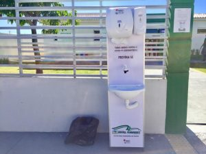 Prefeitura instala lavatórios em locais da cidade, para ajudar no combate ao Covid-19