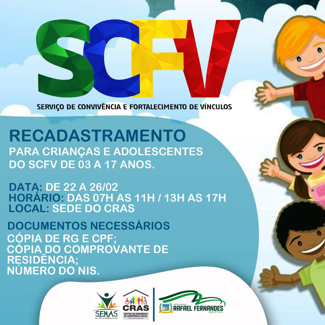 CRAS inicia recadastramento de crianças e adolescentes do SCFV