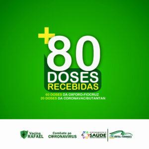Rafael Fernandes recebe mais 80 doses de vacina contra a Covid-19
