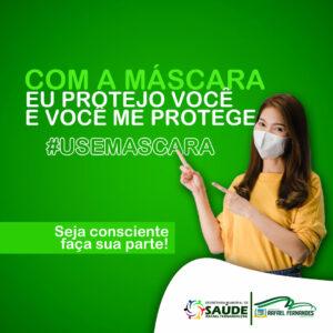 Sec. Municipal de Saúde orienta população ao uso de máscara no município