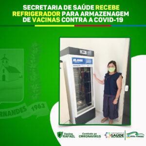 Secretaria de Saúde recebe refrigerador do Grupo Neoenergia/Cosern, para armazenagem de vacinas contra a Covid-19