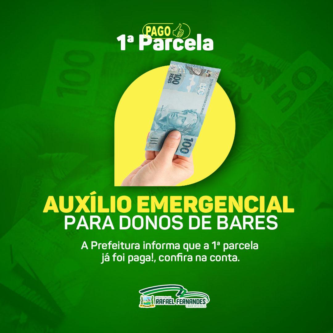 Prefeitura de Rafael Fernandes pagou a primeira parcela do auxílio emergencial para donos de bares e restaurantes